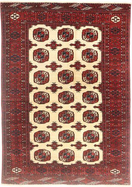 Turkaman Rug 138X194 Authentic  Oriental Handknotted Brown/Beige (Wool, Persia/Iran)