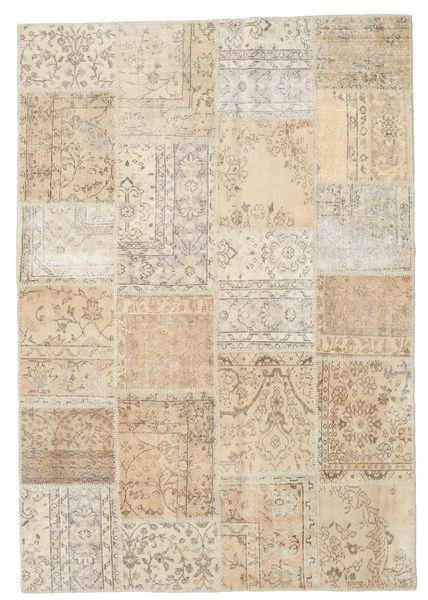 Patchwork Rug 160X231 Authentic  Modern Handknotted Light Brown/Beige (Wool, Turkey)