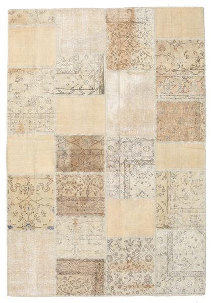 Patchwork Matto 159X230 Moderni Käsinsolmittu Vaaleanruskea/Beige (Villa, Turkki)