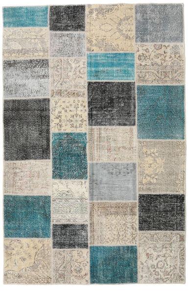 Patchwork Rug 196X302 Authentic  Modern Handknotted Light Grey/Light Brown (Wool, Turkey)