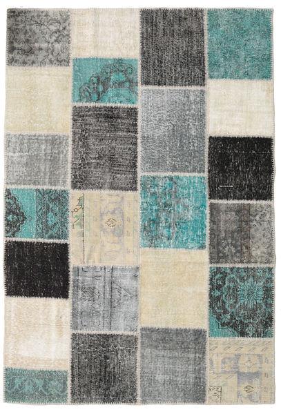 Patchwork Rug 157X232 Authentic  Modern Handknotted Light Grey/Dark Grey (Wool, Turkey)