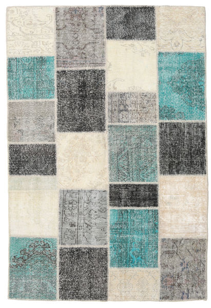 Patchwork Rug 157X234 Authentic  Modern Handknotted Beige/Dark Grey/Light Grey (Wool, Turkey)