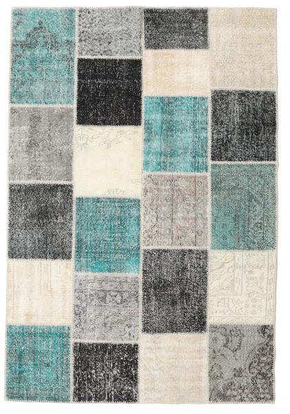 Patchwork Rug 160X234 Authentic  Modern Handknotted Beige/Light Grey/Dark Grey (Wool, Turkey)