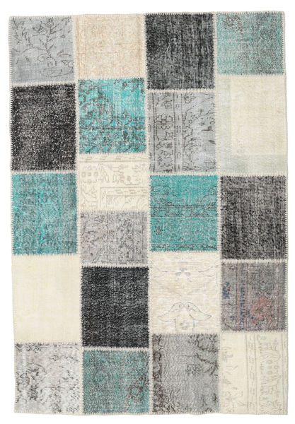 Patchwork Rug 159X230 Authentic  Modern Handknotted Beige/Light Grey (Wool, Turkey)