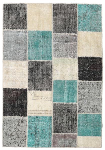 Patchwork Rug 158X231 Authentic  Modern Handknotted Dark Grey/Light Grey (Wool, Turkey)