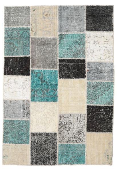 Patchwork Tapis 159X232 Moderne Fait Main Beige/Gris Clair (Laine, Turquie)