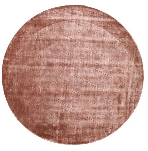 Brooklyn - Pale Copper Tappeto Ø 200 Moderno Rotondo Rosso Scuro/Rosa Chiaro ( India)