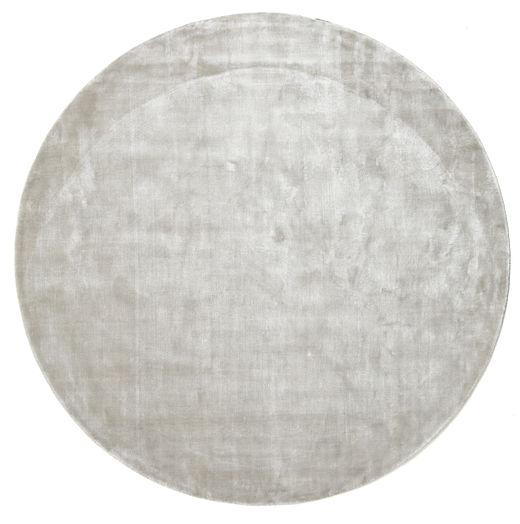 Broadway - Argenté Blanc Tapis Ø 200 Moderne Rond Gris Clair/Beige ( Inde)