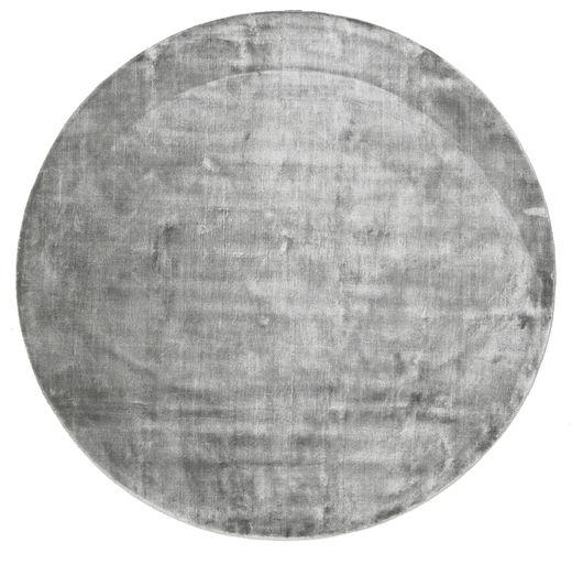 Broadway - Misty Grey Teppich  Ø 300 Moderner Rund Hellgrau/Dunkelgrau Großer ( Indien)
