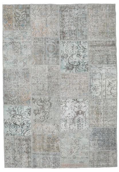 パッチワーク 絨毯 160X233 モダン 手織り 薄い灰色/ベージュ (ウール, トルコ)