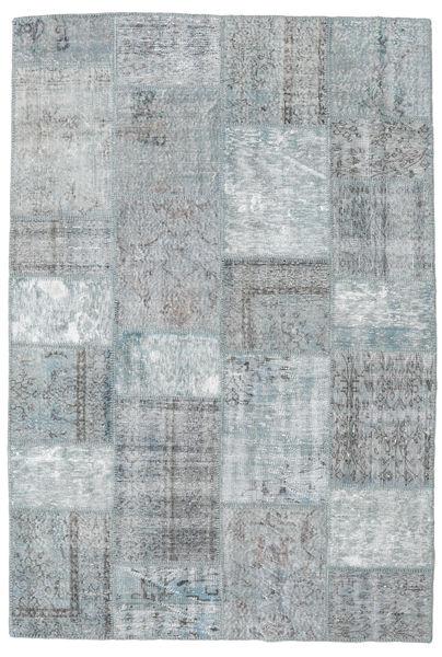 Patchwork Rug 159X231 Authentic  Modern Handknotted Light Grey (Wool, Turkey)