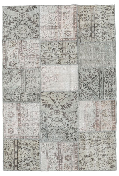 Patchwork Rug 158X231 Authentic  Modern Handknotted Light Grey/Dark Grey (Wool, Turkey)