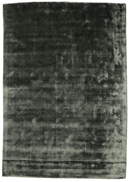 Brooklyn - Moss Green Rug 140X200 Modern Black/Dark Grey ( India)