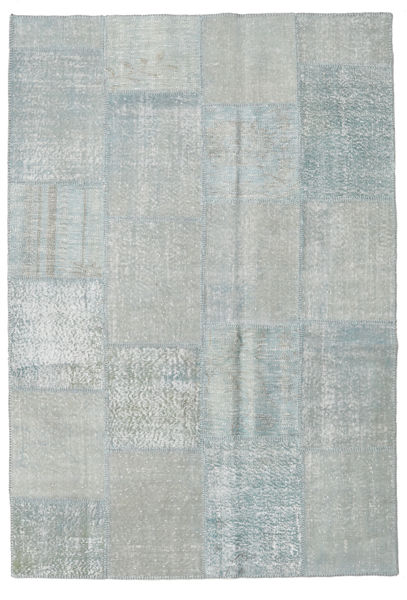 Patchwork Rug 159X232 Authentic  Modern Handknotted Light Grey/Light Blue (Wool, Turkey)