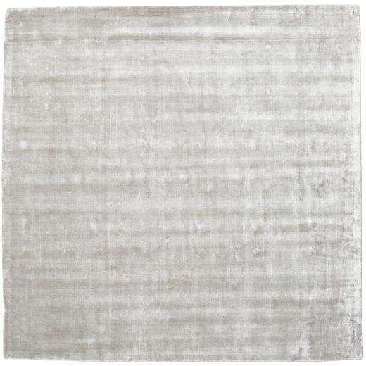 Broadway - Hopea Valkoinen Matto 250X250 Moderni Neliö Vaaleanharmaa Isot ( Intia)