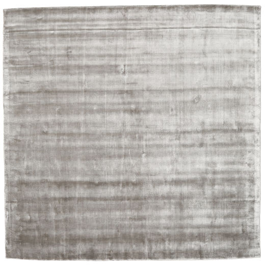 Broadway - Soft Grey Rug 250X250 Modern Square Light Grey Large ( India)
