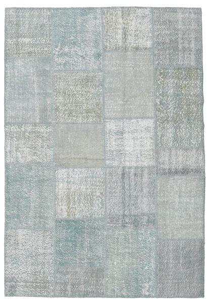 Patchwork Rug 157X232 Authentic  Modern Handknotted Light Grey/Light Blue (Wool, Turkey)