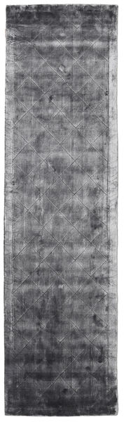 Brooklyn - Stormy Grey Tapis 80X300 Moderne Tapis Couloir Gris Foncé/Violet Clair ( Inde)