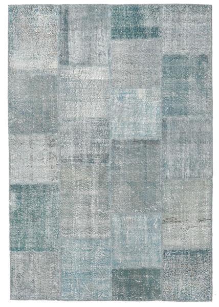 Patchwork Rug 158X233 Authentic  Modern Handknotted Light Grey/Dark Grey (Wool, Turkey)