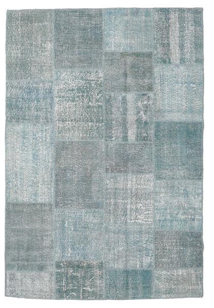 Patchwork Rug 158X234 Authentic  Modern Handknotted Light Grey/Dark Grey (Wool, Turkey)