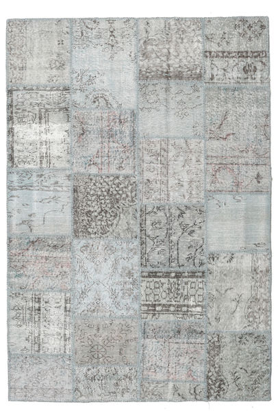 パッチワーク 絨毯 159X232 モダン 手織り ライトグリーン/薄い灰色/ターコイズブルー (ウール, トルコ)