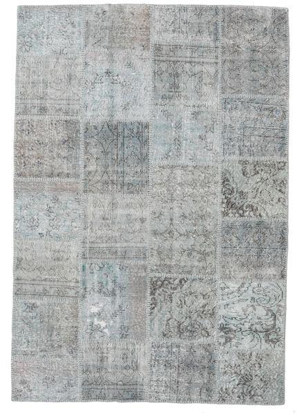 Patchwork Szőnyeg 158X231 Modern Csomózású Világosszürke/Világoskék (Gyapjú, Törökország)