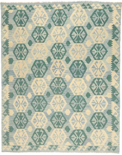 Kilim Afghan Old Style Rug 179X231 Authentic  Oriental Handwoven Light Grey/Pastel Green (Wool, Afghanistan)