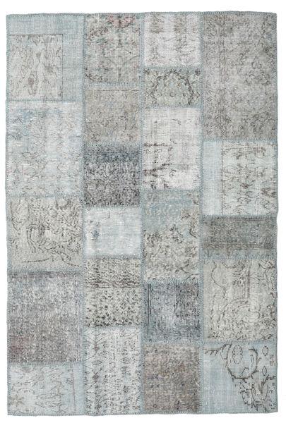 Patchwork Rug 138X206 Authentic  Modern Handknotted Light Grey (Wool, Turkey)