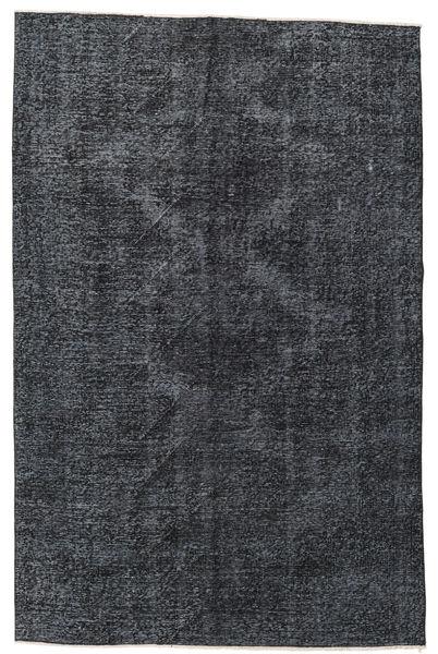 Colored Vintage Rug 145X220 Authentic  Modern Handknotted Dark Blue/Dark Grey (Wool, Turkey)