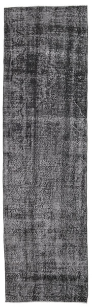 Colored Vintage Rug 80X285 Authentic  Modern Handknotted Hallway Runner  Dark Grey/Light Grey (Wool, Turkey)