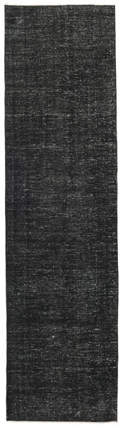 Colored Vintage Rug 81X300 Authentic  Modern Handknotted Hallway Runner  Black/Dark Grey (Wool, Turkey)