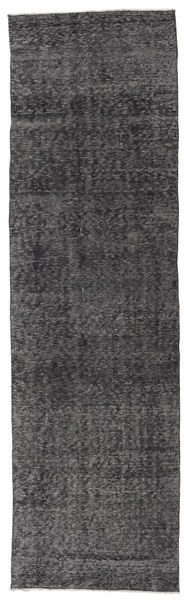 Colored Vintage Rug 80X281 Authentic  Modern Handknotted Hallway Runner  Dark Grey/Light Grey (Wool, Turkey)