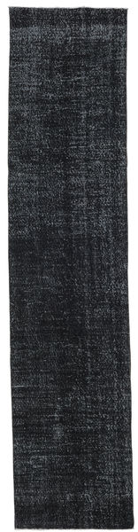 Colored Vintage Rug 91X403 Authentic  Modern Handknotted Hallway Runner  Black/Dark Grey (Wool, Turkey)