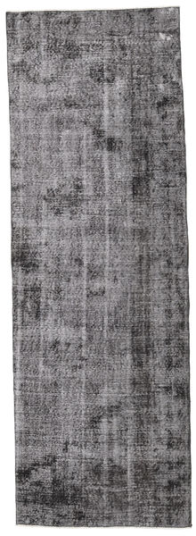 Colored Vintage Rug 96X287 Authentic  Modern Handknotted Hallway Runner  Light Grey/Dark Grey (Wool, Turkey)