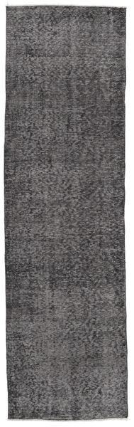 Colored Vintage Rug 81X280 Authentic  Modern Handknotted Hallway Runner  Dark Brown/Dark Grey/Black (Wool, Turkey)