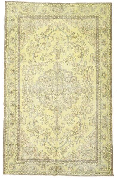 カラード ヴィンテージ 絨毯 187X300 モダン 手織り 暗めのベージュ色の/ライトグリーン (ウール, トルコ)