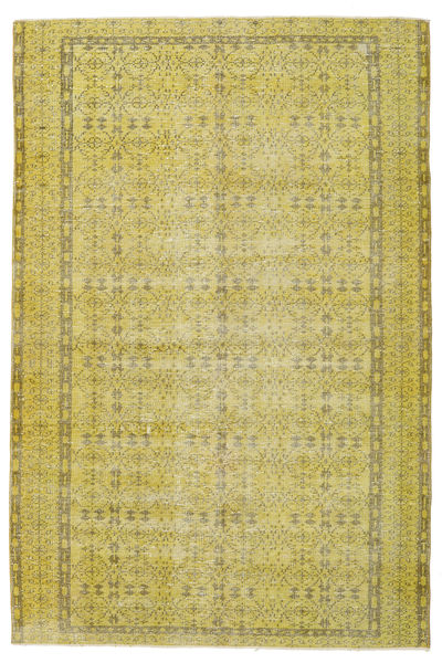 Colored Vintage Rug 170X254 Authentic  Modern Handknotted Yellow/Olive Green (Wool, Turkey)