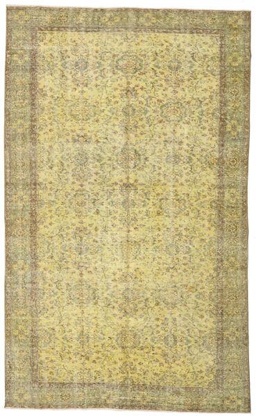 Colored Vintage Teppe 167X274 Ekte Moderne Håndknyttet Lysgrønn/Gul (Ull, Tyrkia)