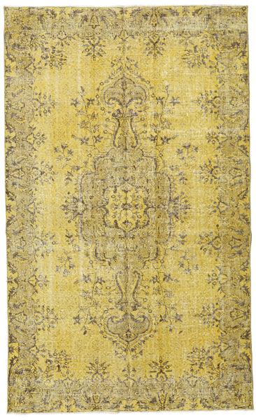 Colored Vintage Dywan 162X270 Nowoczesny Tkany Ręcznie Żółty/Zielony/Oliwkowy (Wełna, Turcja)