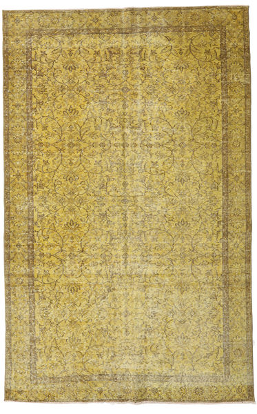 Colored Vintage Rug 167X264 Authentic  Modern Handknotted Olive Green/Yellow (Wool, Turkey)