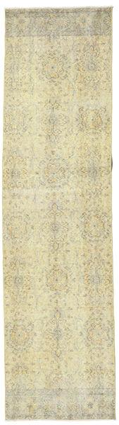 Colored Vintage Dywan 80X306 Nowoczesny Tkany Ręcznie Chodnik Ciemnobeżowy/Beżowy (Wełna, Turcja)