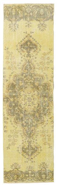 Colored Vintage Matto 81X287 Moderni Käsinsolmittu Käytävämatto Keltainen/Vaaleanvihreä (Villa, Turkki)
