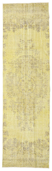 Colored Vintage Rug 81X284 Authentic  Modern Handknotted Hallway Runner  Yellow/Light Green (Wool, Turkey)