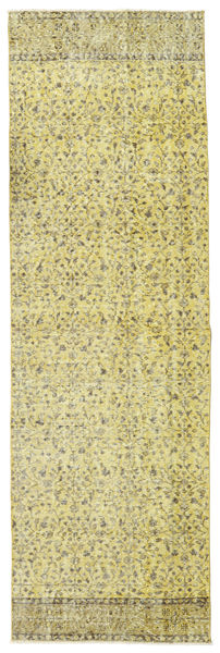 Colored Vintage Rug 80X260 Authentic  Modern Handknotted Hallway Runner  Yellow/Light Green (Wool, Turkey)