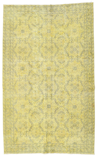 Colored Vintage Rug 167X281 Authentic  Modern Handknotted Yellow/Light Green (Wool, Turkey)