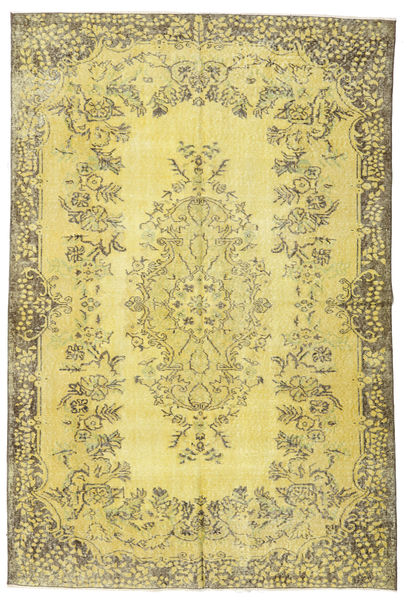 Colored Vintage Rug 174X260 Authentic  Modern Handknotted Yellow/Olive Green (Wool, Turkey)