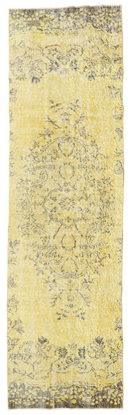 Colored Vintage Rug 81X284 Authentic  Modern Handknotted Hallway Runner  Yellow/Olive Green (Wool, Turkey)