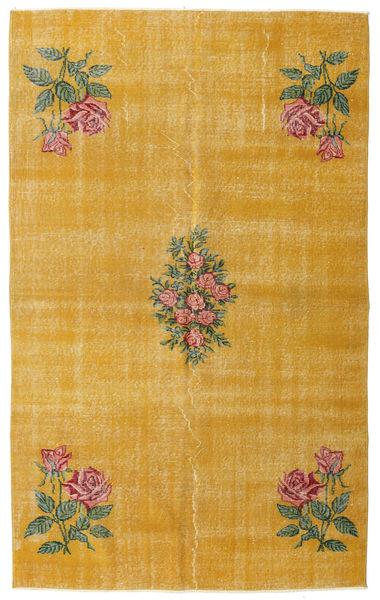 Colored Vintage Matta 155X250 Äkta Modern Handknuten Ljusbrun/Gul (Ull, Turkiet)