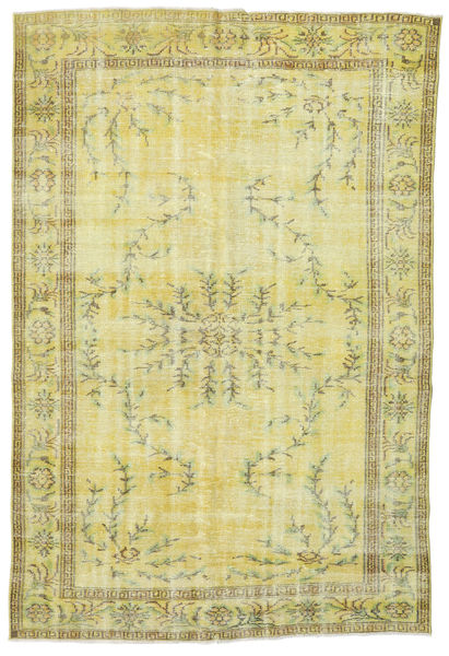 Colored Vintage Rug 177X265 Authentic  Modern Handknotted Yellow/Light Green (Wool, Turkey)