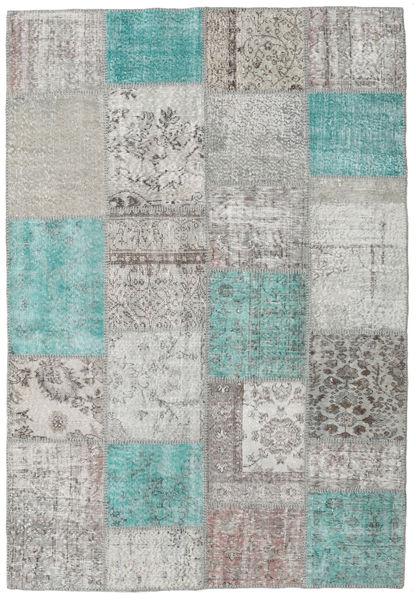 パッチワーク 絨毯 160X231 モダン 手織り 薄い灰色/濃いグレー (ウール, トルコ)